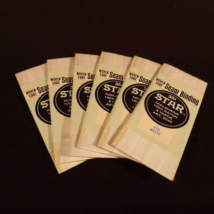 6 Packs of Seam Binding American Thread Star Brand White 18 Yards Total New | eBay