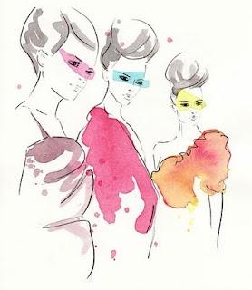 Incredible fashion illustrations. #art