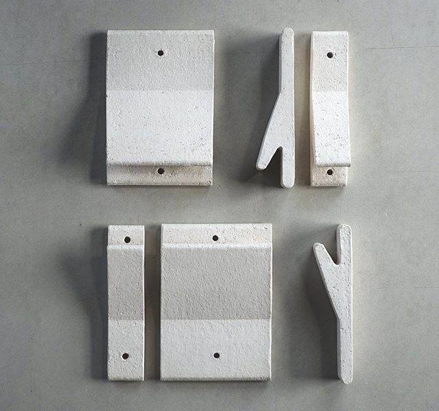 12420 Wall Hook Meets 100 Series Tile In Speckled White Handmade Tiles Wall Hooks Currently Working