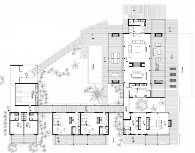 1000 images about architectural design floor plans on Modern beach house plans