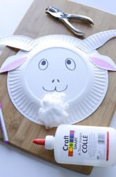 Kindergarten Paper & Glue Crafts Activities: Craft a Goat Mask