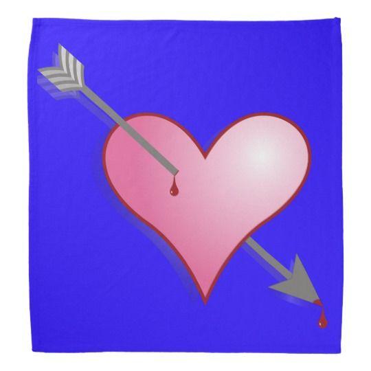 #zazzle #Pink #Heart #Arrow #Blue #Bandana #head #gift #giftidea