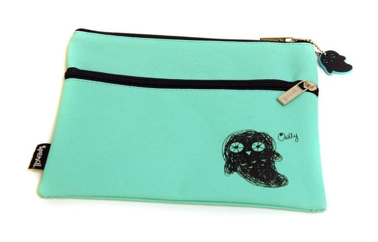 Scruffs 2 Zip Pencil Case - Owlly