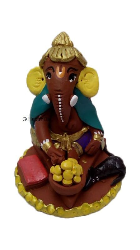 Ec0-friendly Ganesha with Laddu. Unique designs and handcrafted , Ganesha made by our artists is very very cute and unique.