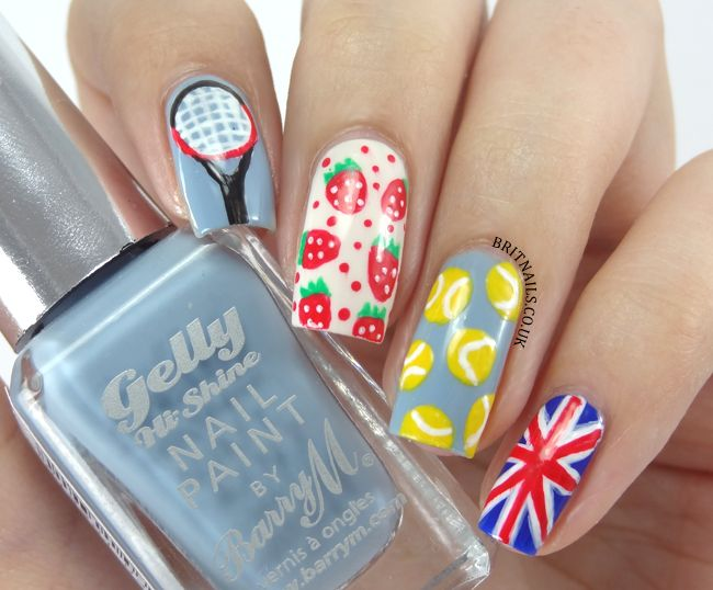 10 best tennis nails images on pinterest nail arts nail designs creative nail art for the british tennis on all barry m colours prinsesfo Image collections