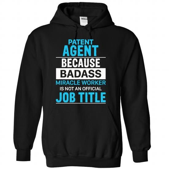 PATENT AGENT - #tshirt quotes #harvard sweatshirt. ACT QUICKLY => https://www.sunfrog.com/LifeStyle/PATENT-AGENT-6537-Black-Hoodie.html?68278