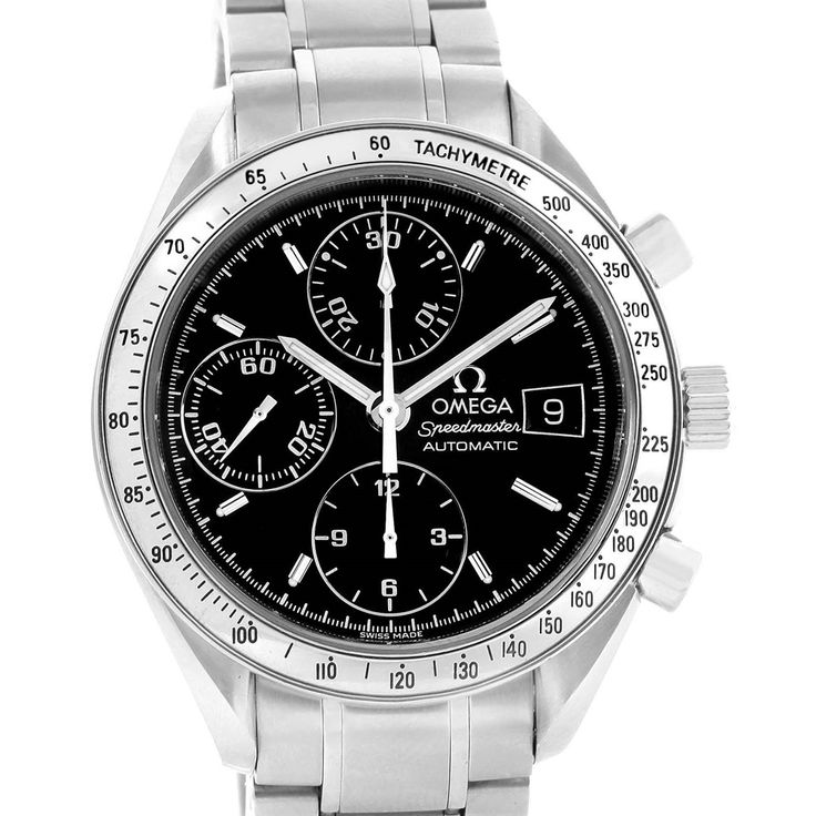 Omega Speedmaster Date Automatic Black Dial Steel Watch 3513.50.00