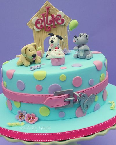 Doggy dog cake for Kids - For all your Dog cake decorating supplies, please visit http://www.craftcompany.co.uk/catalogsearch/result/?q=dog&order=relevance&dir=desc
