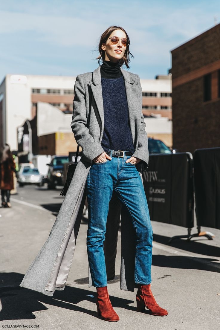 menswear-inspired denim look