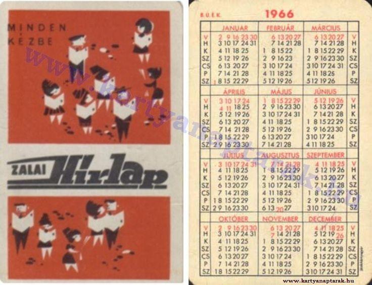 1966 - 1966_0100 - Régi magyar kártyanaptárak