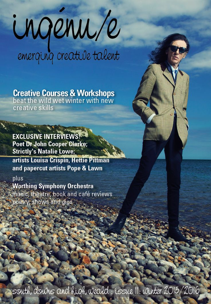 Front cover of ingenue magazine issue 11. Pictured: Dr John Cooper Clark, photo by Tom Oldham for The National Trust