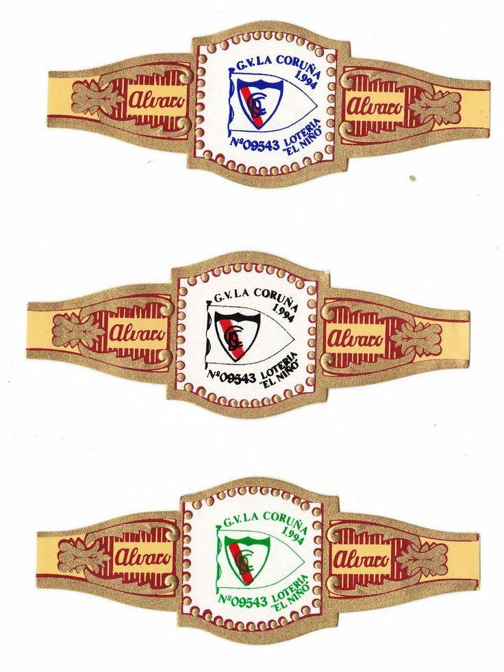 3 vitolas Alvaro Loteria El Nino G V La Coruna 1994