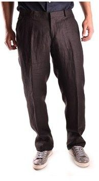 Daniele Alessandrini Men's Black Linen Pants.