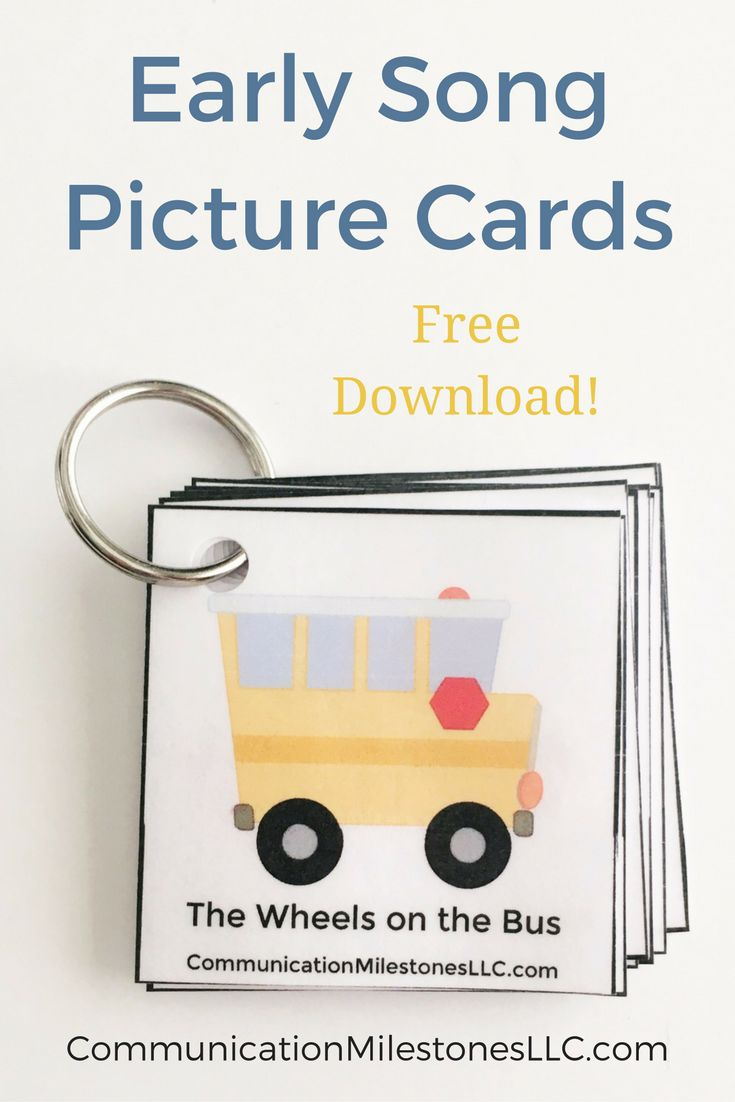 These early song picture cards are great for anyone who works in early intervention.