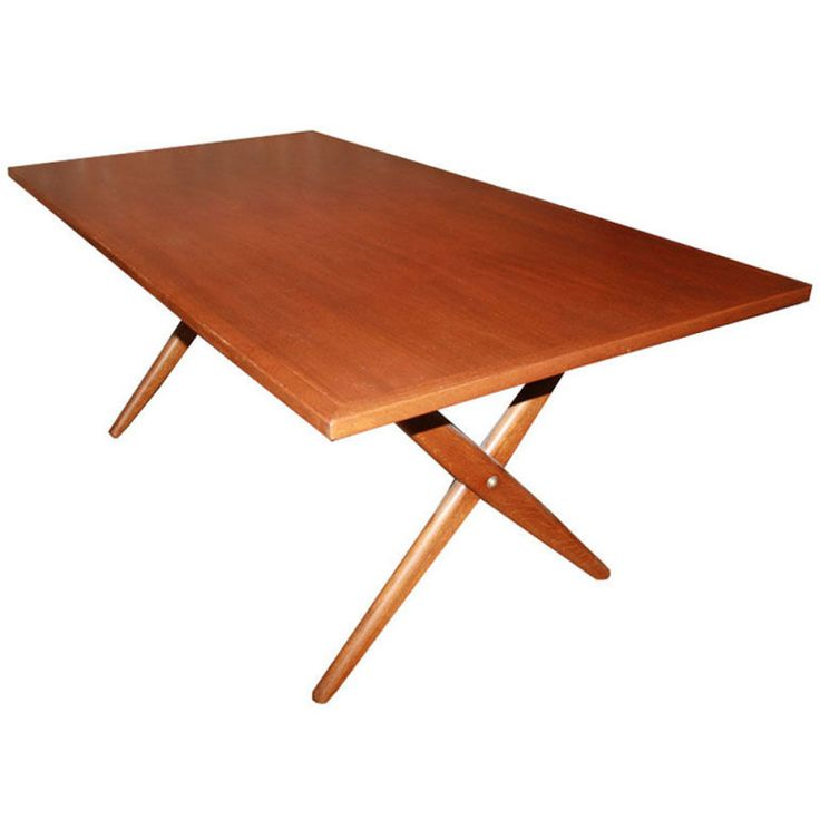 hans wegner x base trestle teak dining table from a unique collection of antique and