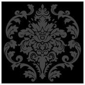 Självhäftande kakeldekor, 6 st Madeleine svart på svart 119kr