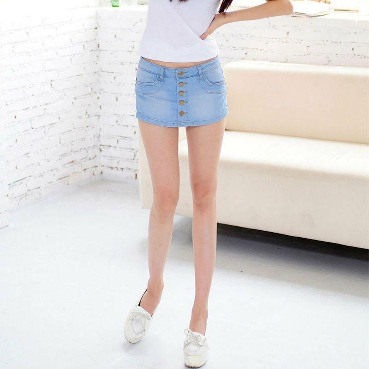 Новый пакет хип джинсовая юбка дикие сладкие летние джинсовые шорты юбки корейской пастушка мини-юбка - Taobao