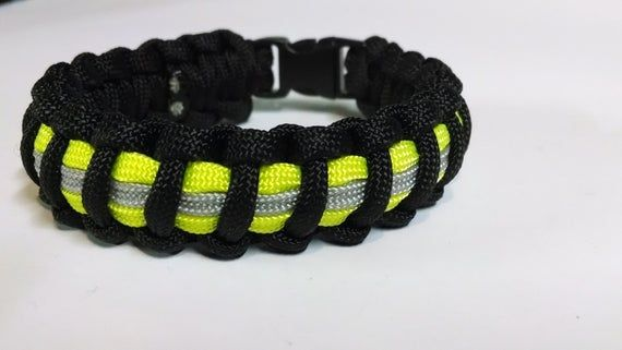 Firefighters Bunker Turnout Gear Paracord Survival Bracelet Safety