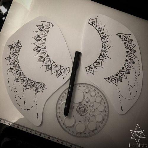 TATTOOS BY BINT | Four #sideboob mandala designs all available....