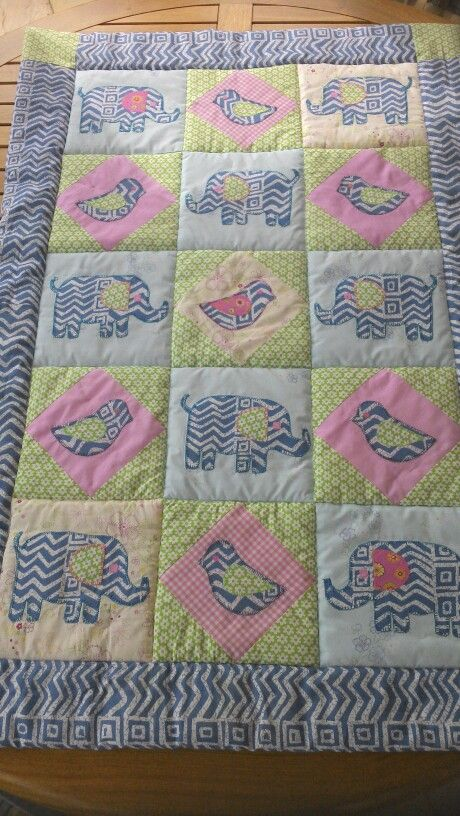 A baby quilt made for my great niece Anna from a Cath Kidson pattern