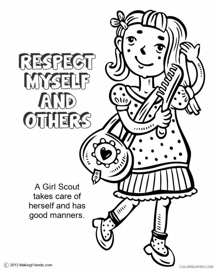 Brownie Girl Scout Coloring Pages Girl Scout Coloring Pages With Quotes Coloring4free Girl Scout Law Girl Scouts Coloring Pages