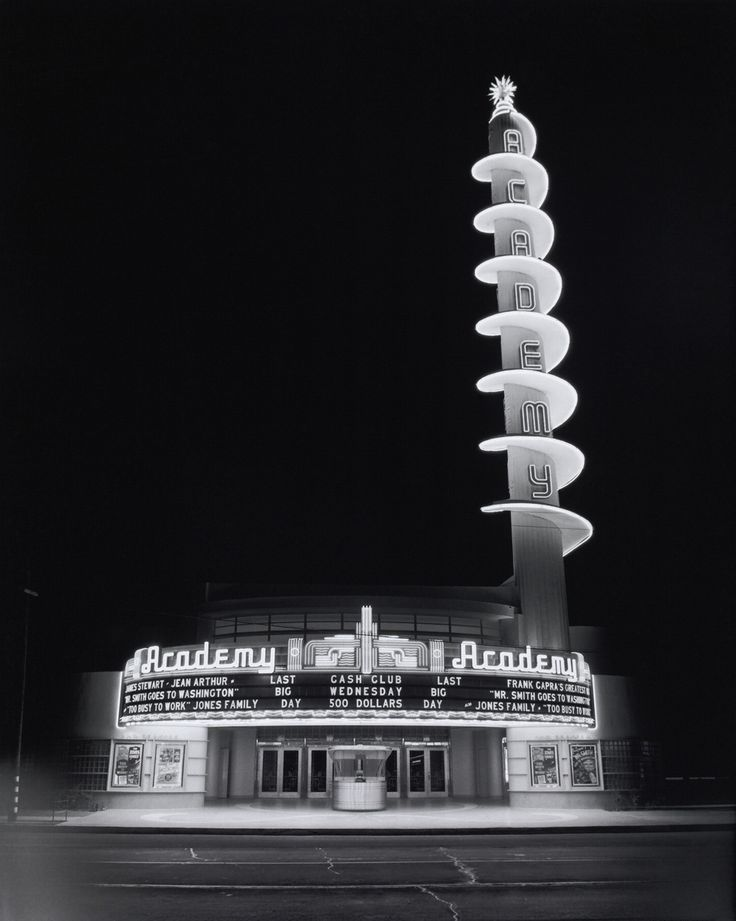 Academy (Architecture by Julius Shulman): Academy Theater, Googi Architecture, Movie Theater, Movie Theatre, Julius Shulman, Academy Theatre, Art Deco, Architecture Photography, Movie Houses