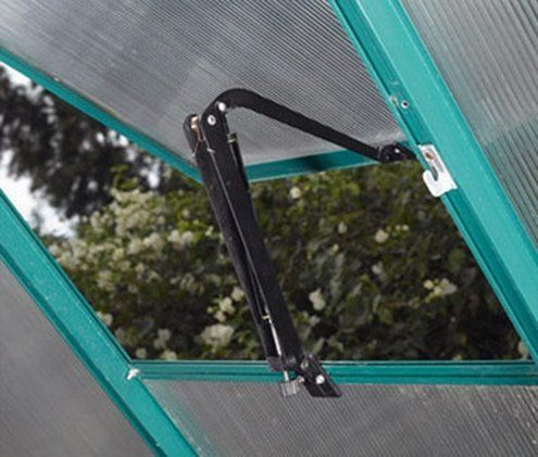 Auto Vent Opener in Black by STC. $57.35. Assembly required. 15 in. W x 1.5 in. D x 1.5 in. H The Auto Vent will open your greenhouse vent window to let the hot air escape. As the oil in the arm heats up, your vent will open without any help from you. This carefree way of cooling your greenhouse will allow you to focus on growing and maintaining your plants. The Auto Vent can be installed in a matter of minutes. Plus, it doesnt hang too low inside your greenhouse,...