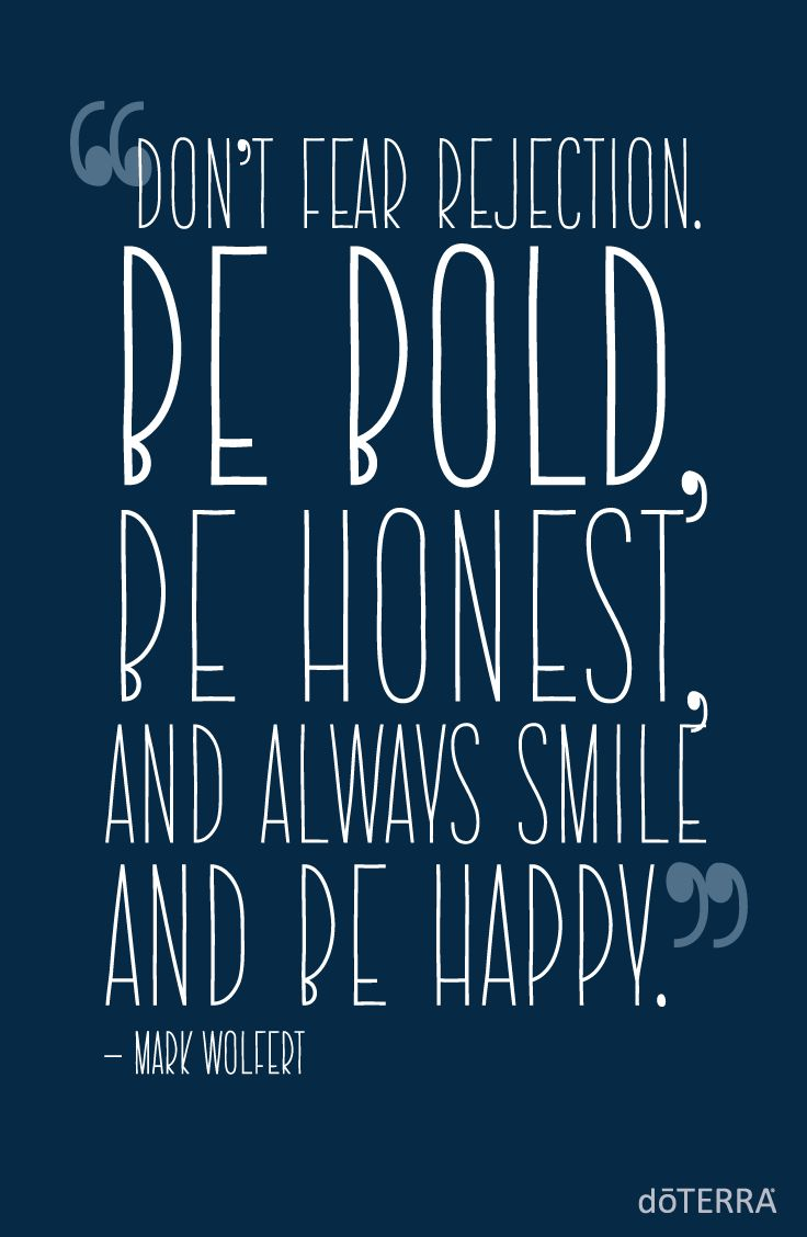 Be the #doTERRADifference by being BOLD, HONEST, and HAPPY!