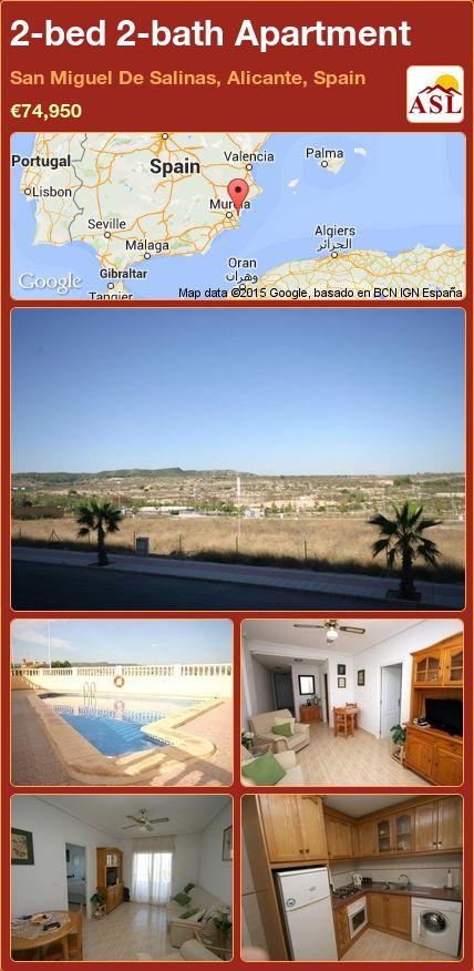 2-bed 2-bath Apartment in San Miguel De Salinas, Alicante, Spain ►€74,950 #PropertyForSaleInSpain