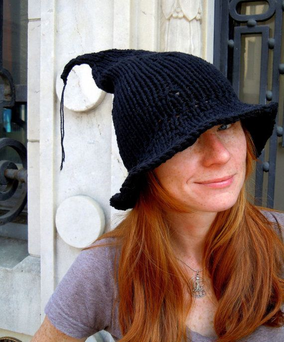 5594efac3c8 Knitted witches hat - so cute!