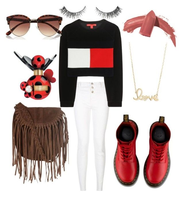 """#4"" by matilda-key on Polyvore featuring Tommy Hilfiger, Dr. Martens, Glamorous, Elizabeth Arden, Marc Jacobs, Sydney Evan, River Island, women's clothing, women and female"