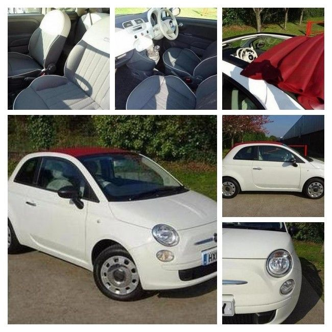Bargain for Sunday? White 2014 Fiat 500 Convertible, 6873 miles, £7,494  https://v5cars.co.uk/buy-used-car/21344/fiat/500 #fiat500 #Fiat #forsale #cars #perrys