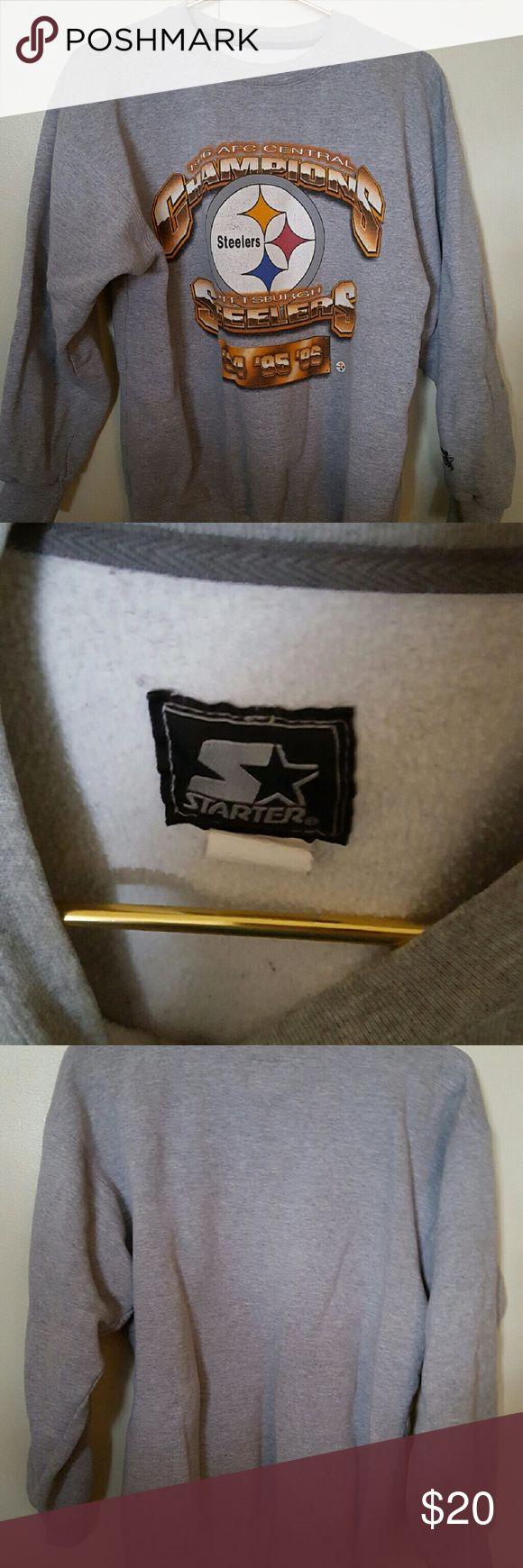 Vintage Pittsburgh Steelers Sweatshirt Vintage Pittsburgh Steelers Sweatshirt, size ladies Medium. 1996 AFC Central Champions Starter Tops Sweatshirts & Hoodies