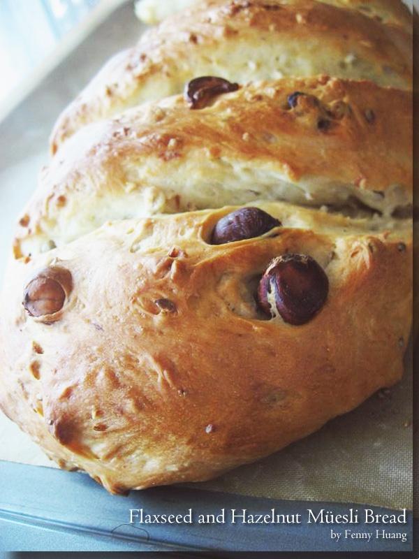 Flaxseed Walnut Muesli Bread