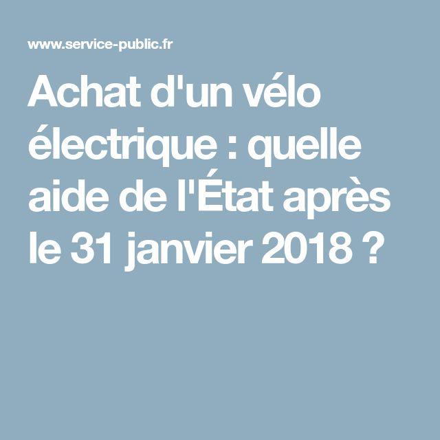 Achat d'un vélo électrique: quelle aide de l'État après le 31janvier2018?