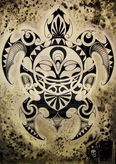 maori art | MAORI TURTLE by ~LARANGEIRAS on deviantART