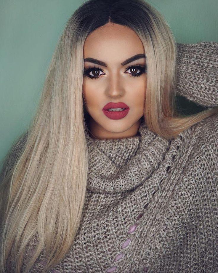 Enca Haxhia | Wig hairstyles, Ombre colored hair, Hair beauty