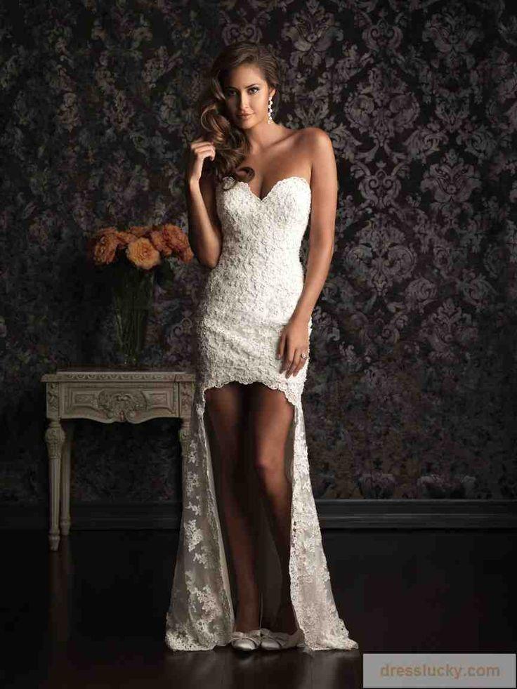 sexy short wedding dress