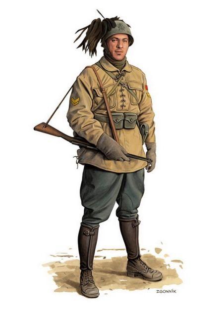 1941 c. Italian, Bersaglieri - Dmytriy Zgonnik
