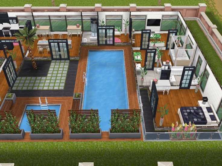 House 76 Ground Level #sims #simsfreeplay #simshousedesign