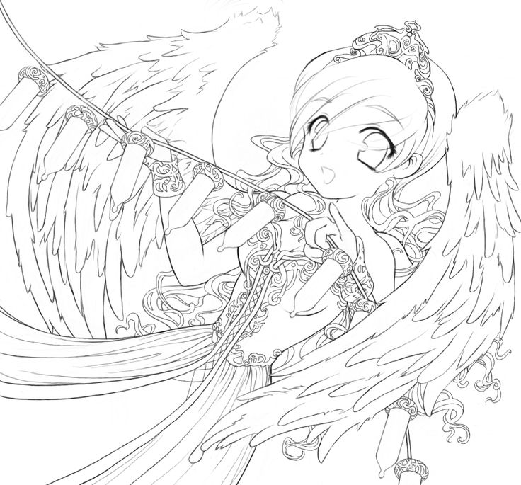 Angles coloring pages ~ Anime Angles Coloring Pages
