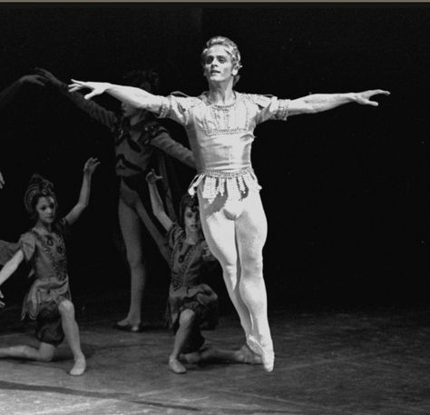 """New York City Ballet production of """"A Midsummer Night's Dream"""" with Mikhail Baryshnikov as Oberon, choreography by George Balanchine (New York)"""
