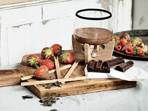 Chocolate fondue set available from www.geminioctopus.com