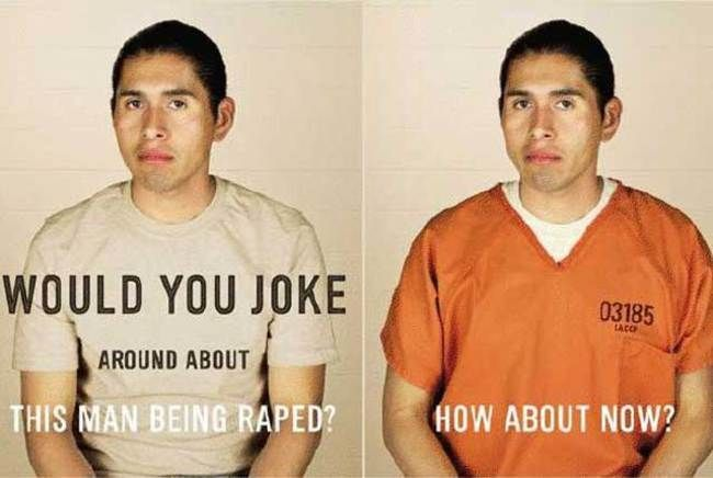 Prison Rape: Getting From Punchline to Serious Crime http://fw.to/MoPpZYQ ---- Rape jokes are NEVER acceptable.