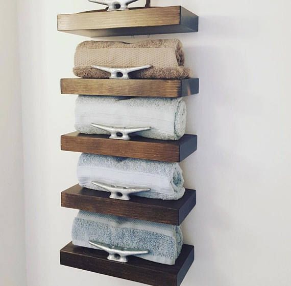 Floating Nautical Shelves With Authentic Dock Cleats Nautical Shelves Nautical Bathroom Decor Nautical Home