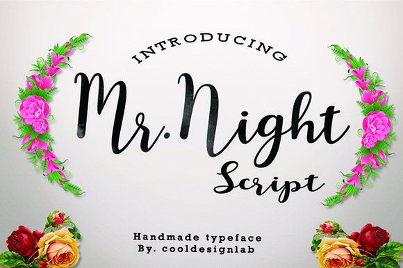 Mr.Night script by cooldesignlab on @creativemarket
