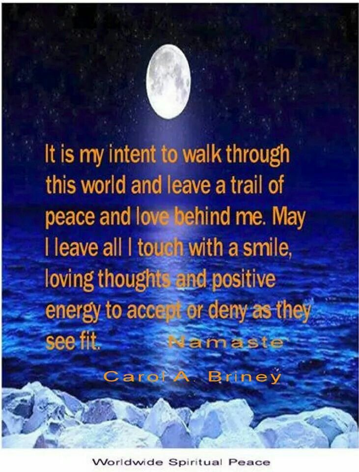 My intention