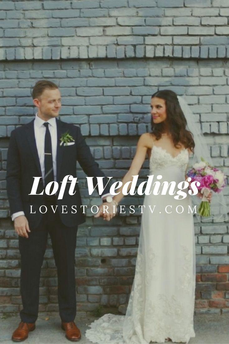 Want your reception to have the chic feeling and style of a loft? See how REAL brides decorated their lofts to represent their wedding style over on lovestoriestv.com.