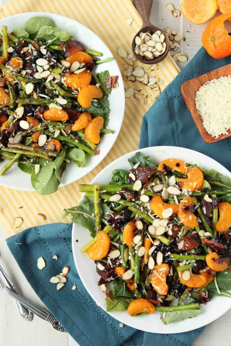 Bacon and Orange Balsamic Asparagus Salad | simplerootswellness.com