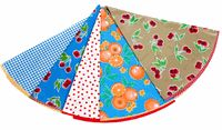 """47"""" Round Custom Oilcloth Tablecloth. Choose your own oilcloth fabric prints! @ www.oilclothalley.com"""
